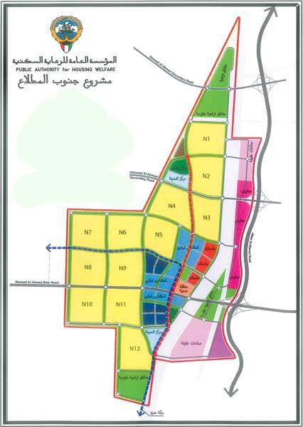 خريطة مدينة المطلاع