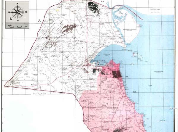 خريطة دولة الكويت