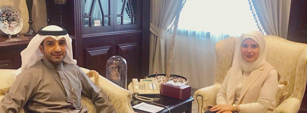 مع وزيرة الاشغال العامة ووزيرة الدولة لشؤون الاسكان الدكتورة جنان بوشهري