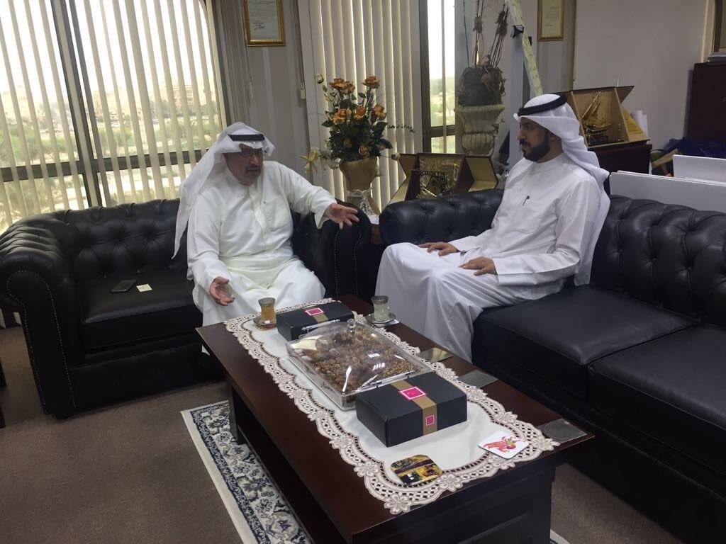 وكيل الوزارة المساعد للطرق بوزارة الأشغال م. احمد الحصان مع المهندس خالد العتيبي